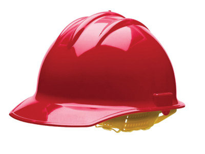 Bullard Red HDPE Cap Style Hard Hat w/6 Pt. Rachet Suspension