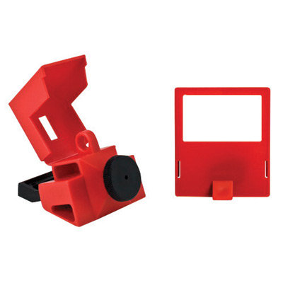 Brady Red Impact Modified Nylon & Poly 480/600 V Clamp-On Circuit Breaker Lockut