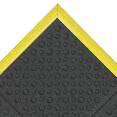 """NoTrax 3' X 3' Black 3/4"""" Thick Resilient Rubber Cushion Ease  Ergo  Safety"""