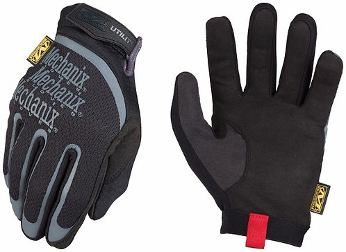 Mechanix Wear Small Black Utility Full Finger Synthetic Leather