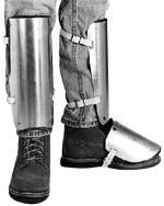 "Ellwood Safety Appliance Large 20"" Aluminum Alloy Shin Instep Guard"
