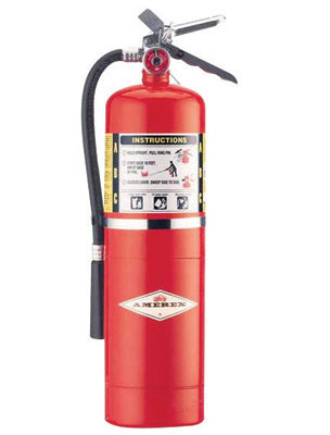 Amerex  10 # Stored Pressure ABC Dry Chemical 4A:80B:C Steel  Fire Extinguisher