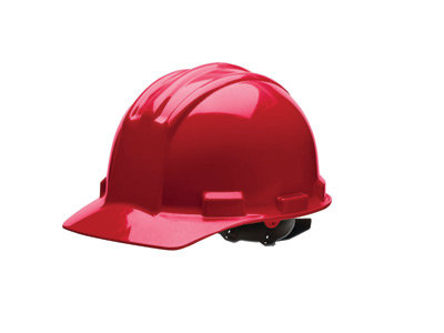 Bullard Red HDPE Cap Style Hard Hat w/4 Pt. Rachet Suspension