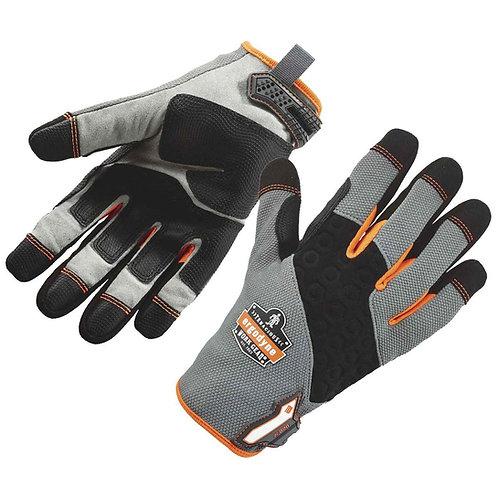 Ergodyne Size 2X Black/Gray/Orange ProFlex Tena-Grip  Full Finger