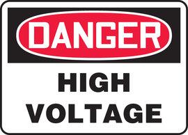 "10"" X 14"" Adhesive Vinyl DANGER HIGH VOLTAGE"