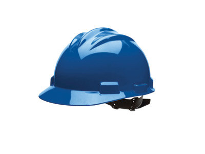 Bullard Blue HDPE Cap Style Hard Hat w/4 Pt. Pinlock Suspension