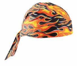 OccuNomix Big Flames Tuff Nougies 100% Cotton Doo Rag Tie Hat