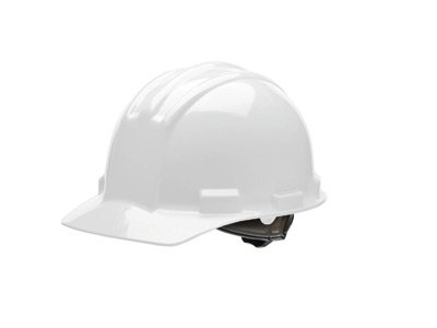Bullard White HDPE Cap Style Hard Hat w/4 Pt. Rachet Suspension