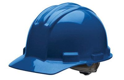 Bullard Blue HDPE Cap Style Hard Hat w/4 Pt. Rachet Suspension