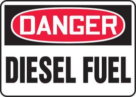 "10"" X 14"" Aluminum  DANGER DIESEL FUEL"