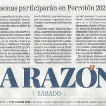 PERIODICO LA RAZON 17 JULIO 2021 - PERROTON MADRID 2021