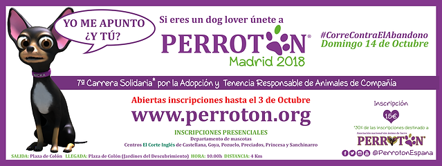 BANNER OFICIAL PERROTON MADRID 2018 ABIE