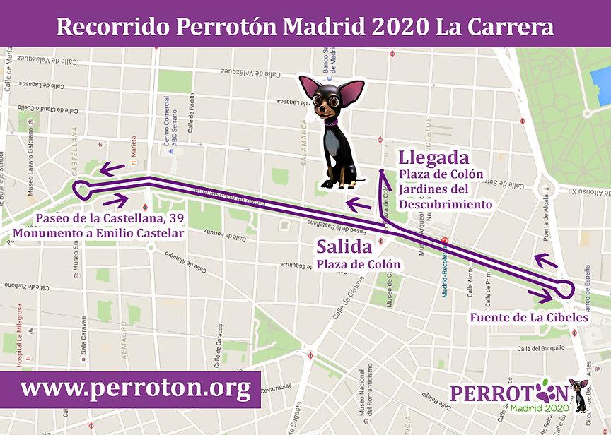 Recorrido Perroton Madrid 2020 La Carrer