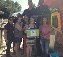 Journée prévention solaire au Parc Saint Paul par l'équipe de Perspectives contre le cancer