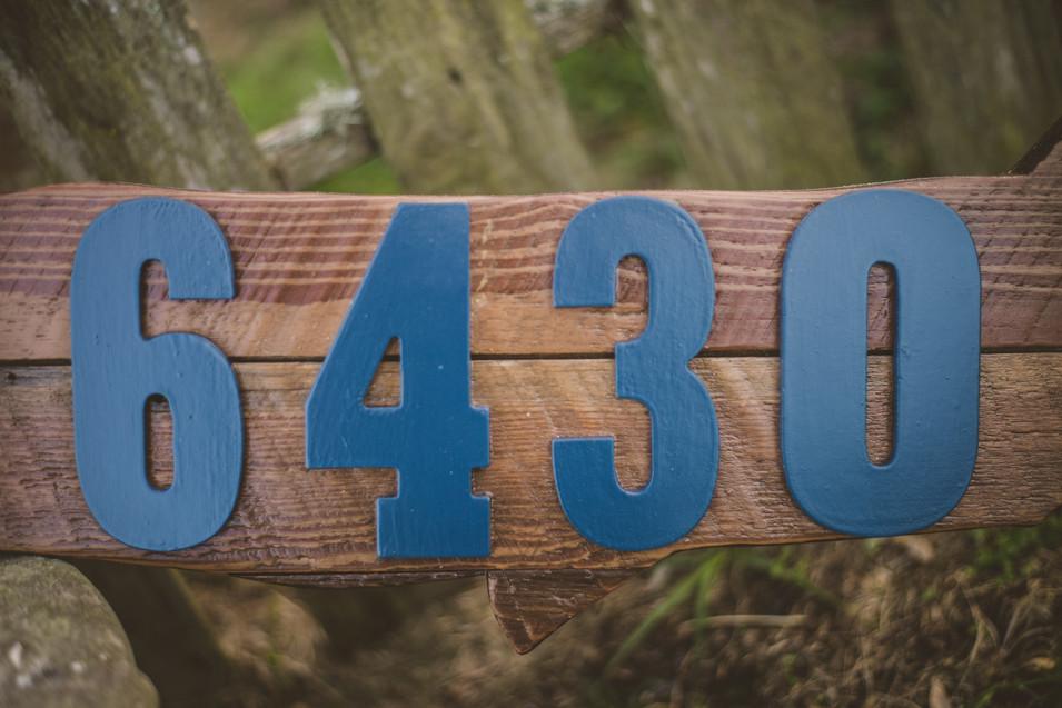 Custom Garfish Address Sign