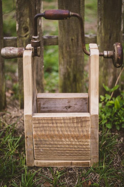 Repurposed Antique Hand Drill Box