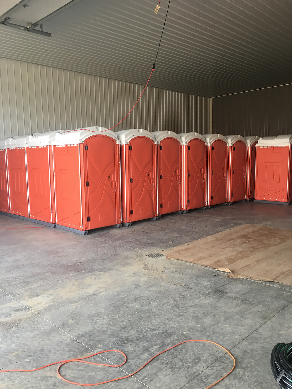 Brand New Fleet of Construction Porta Pottys Delivered
