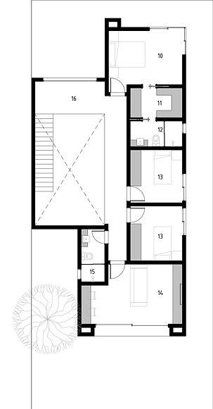 Projeto Archdaily - Planta de piso - SUP