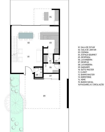 Projeto Archdaily - Planta de piso - TER