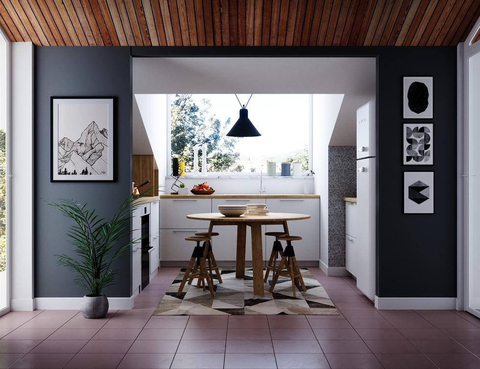 Cucina Mansarda - Vista frontale