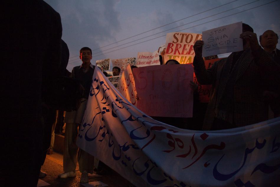 civilians protesting againts violence