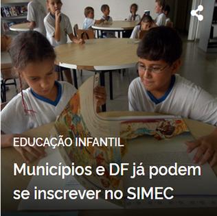 Municípios e DF já podem se inscrever no SIMEC