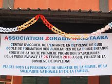 AZN de Guié | Ecole de formation des auxiliaires de la prime enfance