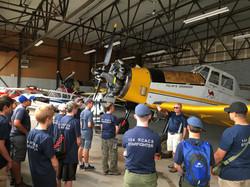 Btfd Airport Cadet camp hangar tour