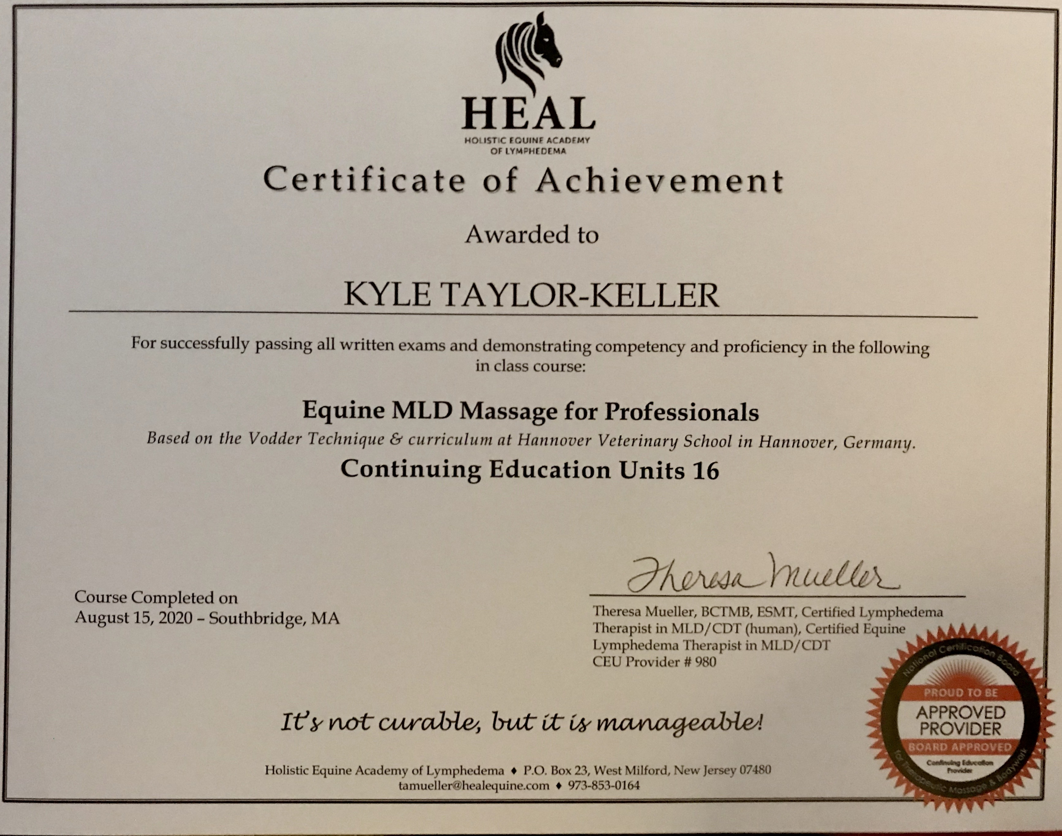 HEAL MLD Therapist
