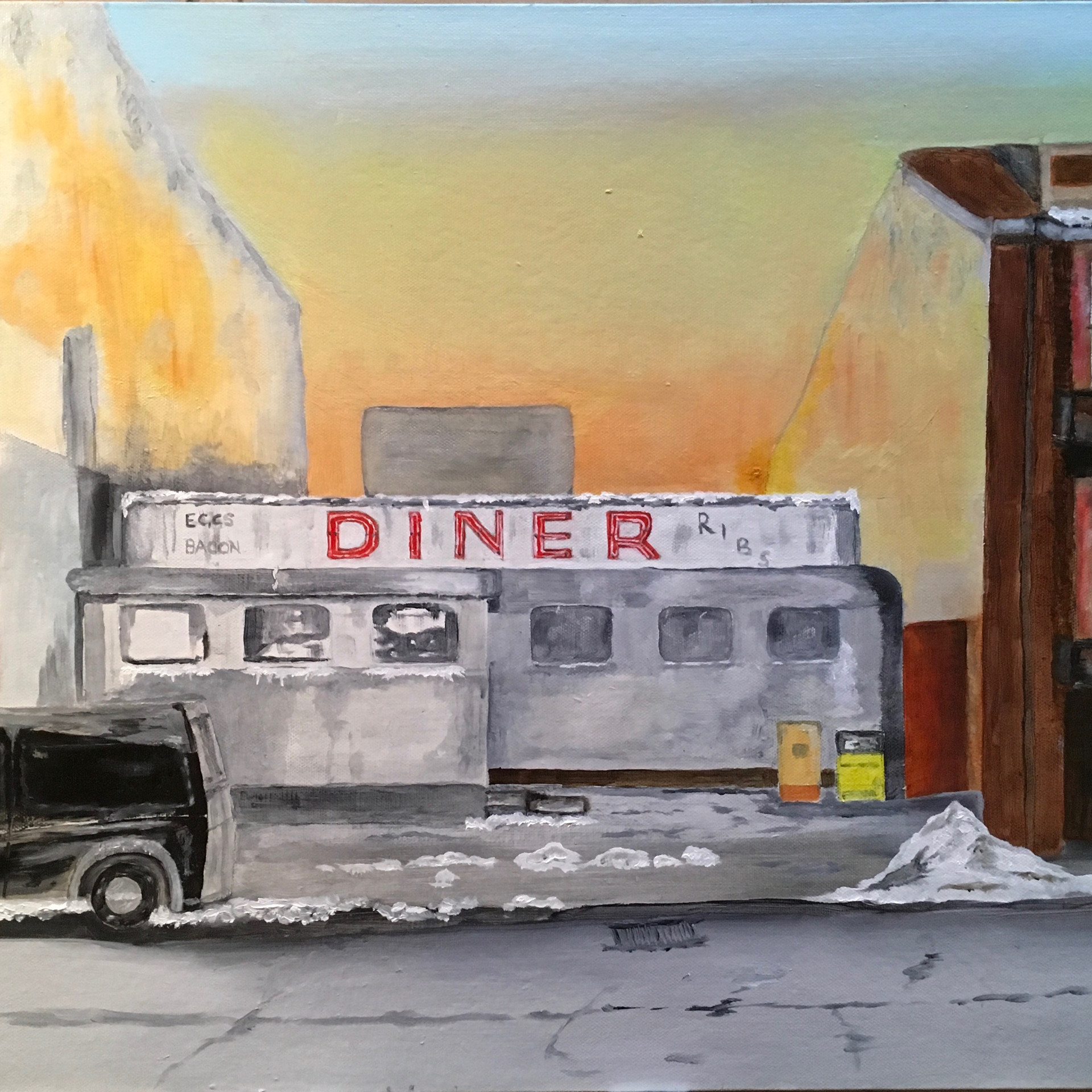 A DINER IN A VACANT SPACE IN CENTRAL NEW YORK