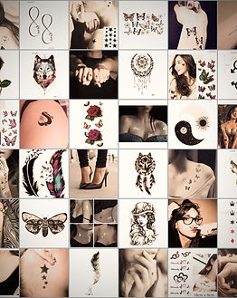 Small tattoo collage
