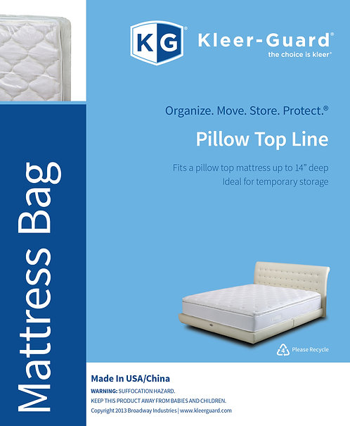 "Pillow Top Mattress Bags - 14"" Gusset"
