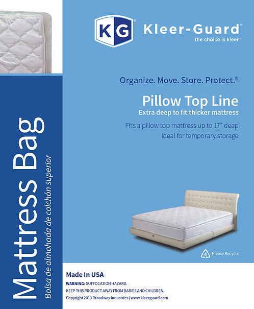 "Pillow Top Mattress Bags  - 17"" Gusset"