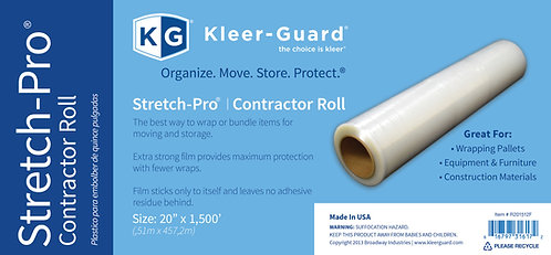 "20"" x 1,500' Stretch-Pro® Contractor Roll"