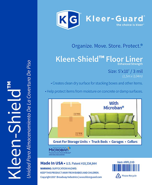 Kleen-Shield® Floor Liner with Microban® Protection