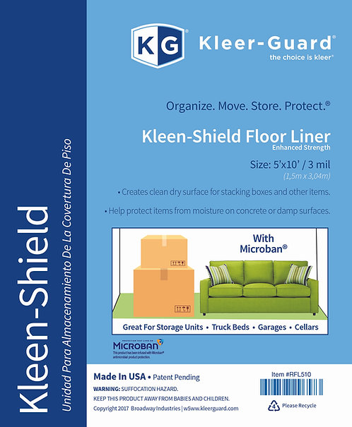 Kleen-Shield Floor Liner with Microban® Protection