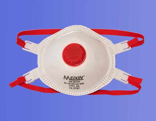 FFP3 NR Atemschutz mit Ventil und Dichtlippe, MX-2014V (5 Stk.)