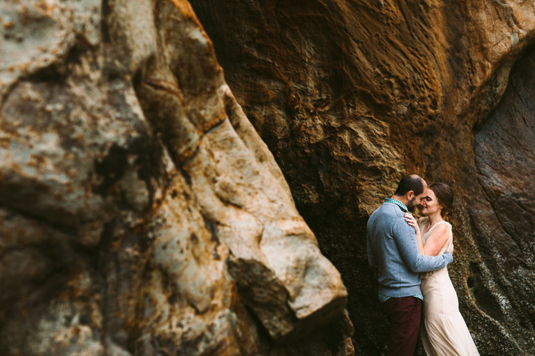 Justine + Sean | Hug Point, Oregon