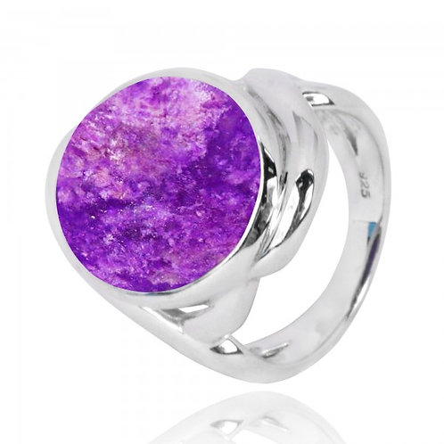 [NRB6618-SUG] Oval Shape Sugilite Cocktail Ring