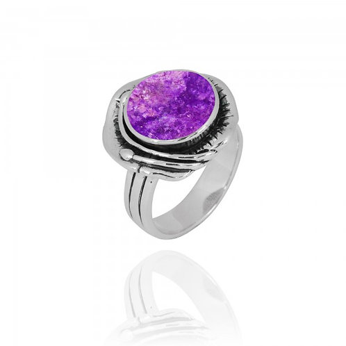[NRB8800-SUG] Round Shape Sugilite Cocktail Ring