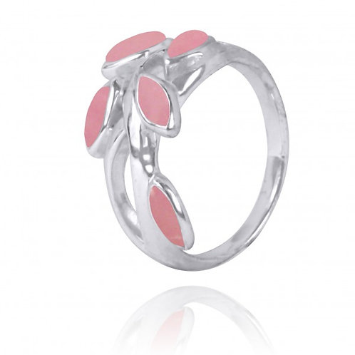 [NRB2020-PPKOP] Marquise Shape Peru pink opal Cocktail, Gemstone Ring