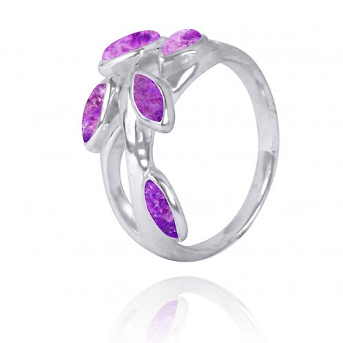 [NRB2020-SUG] Marquise Shape Sugilite Cocktail, Gemstone Ring