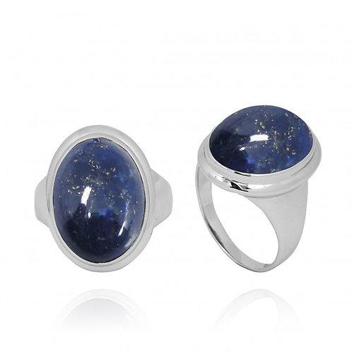 [NRB5495-LAP] Oval Shape Lapis Lazuli Ring