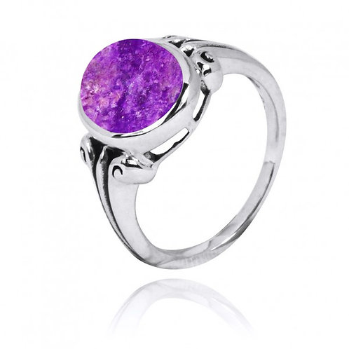 [NRB3631-SUG] Oval Shape Sugilite Gemstone Ring