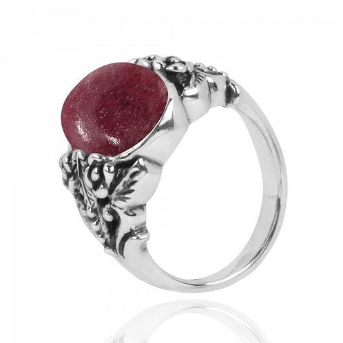 [NRB5097-RDN] Oval Shape Rhodonite Statement Ring