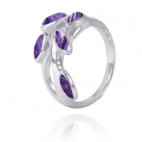 [NRB2020-CHR] Marquise Shape Charoite Cocktail, Gemstone Ring