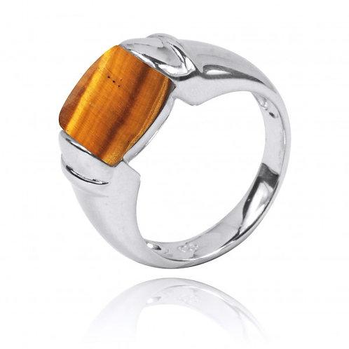 [NRB0764-BRTE] Cushion Shape Brown Tiger Eye Gemstone Ring[NRB0764-BRTE] Cushion