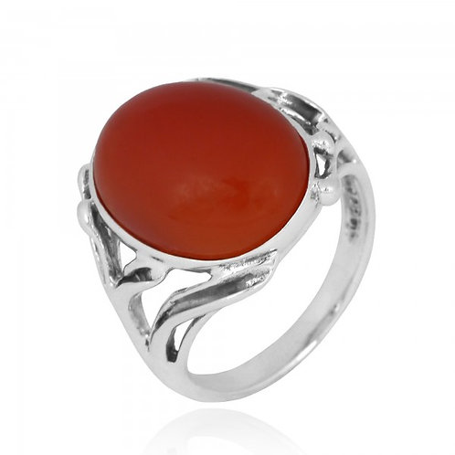 [NRB7477-CAR] Oval Shape Carnelian Cocktail, Statement Ring