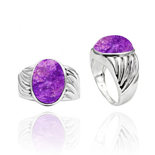 [NRB6704-SUG] Oval Shape Sugilite Cocktail Ring