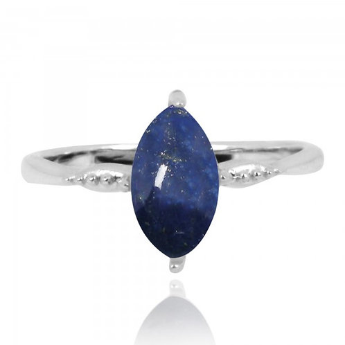 [NRB4594-LAP] Marquise Shape Lapis Cocktail Ring